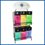 Stash 6 Flavor Empty Display Tea Rack with header 53140-4