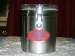 Stainless Steel Canister 55 oz w/ Red & Blue ARCO coffee logo