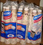 Dixie Perfect Touch Bean Design 8 oz 160 ct bag 5 Pack