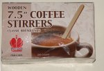 Wooden Coffee Stirrers 7.5 inch Round End 10 each 500 ct box 5000 ct total