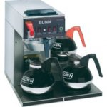 Bunn CWTF-DV Automatic Coffee Brewer 3 lower warmers Dual Voltage 12950.0409
