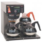 Bunn Axiom Digital Automatic Coffee Brewer with LCD Axiom 35-3 3 lower warmers 38700.0003