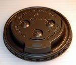 Dopaco Brown Dome Lids for 12-20oz Paper Hot Cups 1000ct 21432