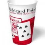 International Paper 8 oz Paper Wildcard Poker Design Vending Cup SVR08 2000 ct