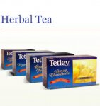 Tetley Lemon Chamomile Tea 6 boxes of 20