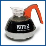 Bunn 06101.0106 Easy Pour Stainless Bottom Polymer Top Decanters Decaf Orange Handle 6 ct