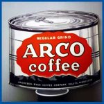 ARCO coffee Antique Original 1960's advertising can sign