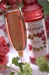 Monin Rose Syrup case of 12/750ml