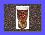 Dopaco Swirl Design 8 oz Paper Hot Cups 1000 ct 4834