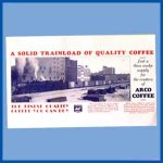 ARCO Coffee Poster, Photo of trainload of coffee March 10,1932