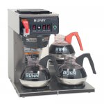 Bunn 12950.0298 CWTF15 Automatic Coffee Brewer 3 Lower warmers