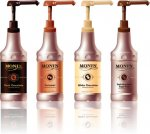 Monin Sugar Free Dark Chocolate Sauce 64 oz bottles 4 ct