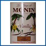 Monin Vanilla Syrup case of 12/750ml (25.4oz) bottles