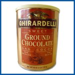 Ghirardelli Sweet Ground Chocolate and Cocoa 3 lb cans 6 count