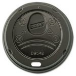 Net Choice Black Dome Lids for 12-20 oz cups 1000 ct 054757