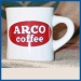 ARCO coffee buffalo china diner mug; heavy restaurant quality
