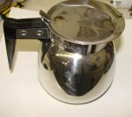 Coffee Decanter Stainless Steel 64 oz 12 cup Refurb