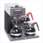 Bunn VP17-3 Black Pourover Coffee Machine 3 lower warmers 13300.0013