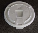 Dart White Flat tear- back Lids for 6 oz foam cups
