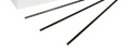 "7.75"" Collins Black Slim Stirrer Sip Straw 500 ct"