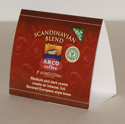 ARCO Scandinavian Blend Table Tents Pkg Of ARCO Scandinavian - Create table tents