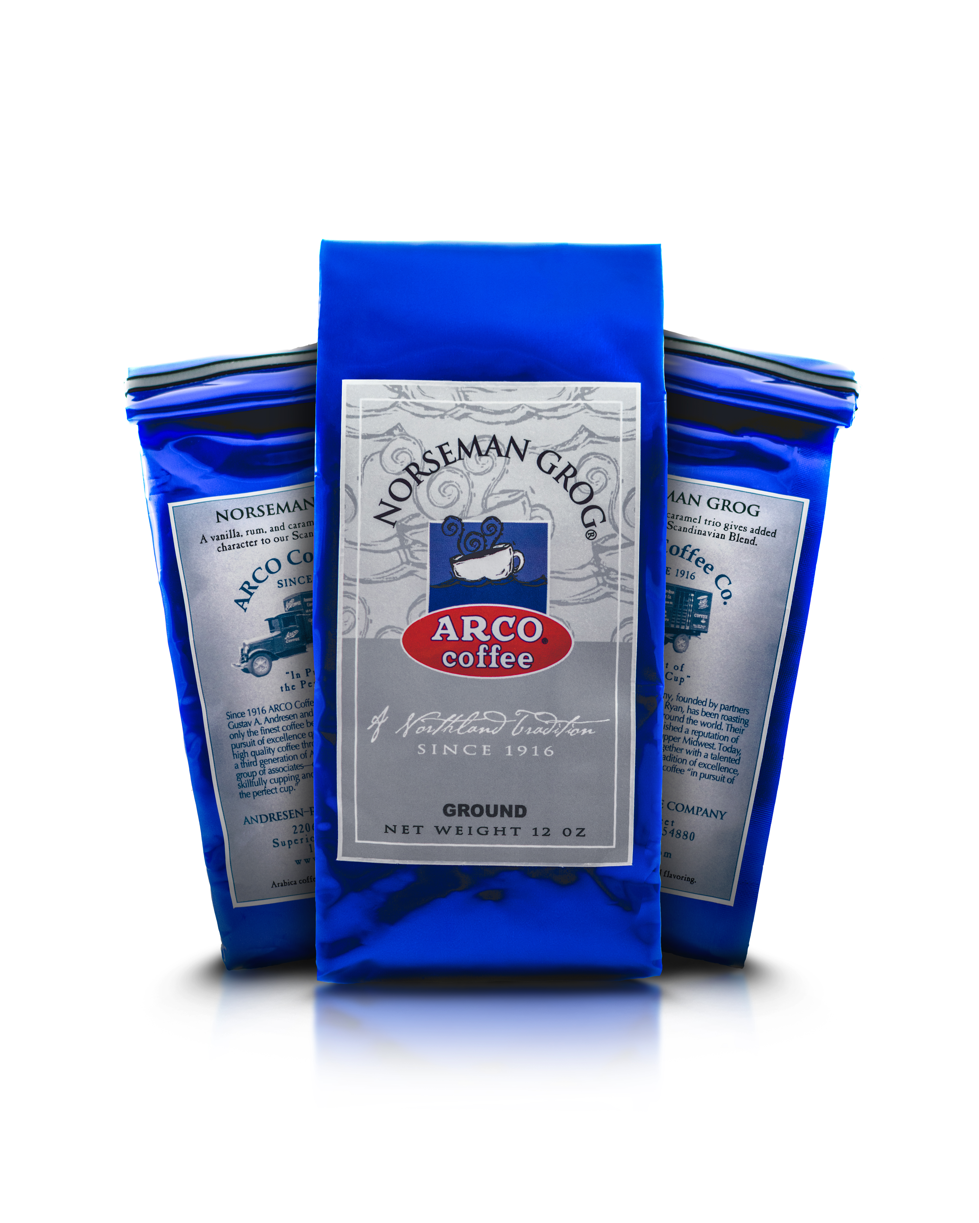 ARCO Norseman Grog Flavored Coffee 12 oz - Click Image to Close