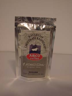 ARCO Bavarian Chocolate Raspberry Flavored Coffee 1.75 oz (49.61g)